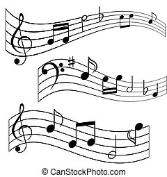 Music notes - Musical notes on music sheet