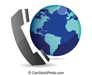 international calls illustration isolated over a white...