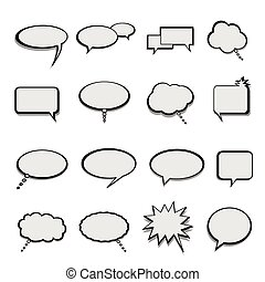 Talk and speech balloons or bubbles - Talk, speech and...