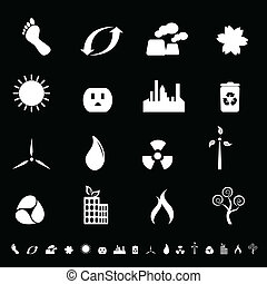 Environment and clean energy icons