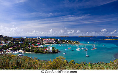 Entering Cruz Bay on St John - Sailing into Cruz Bay on the...
