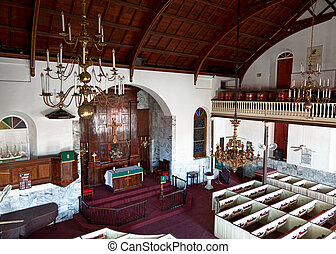 Lutheran Church in St Thomas - Interior of old Lutheran...
