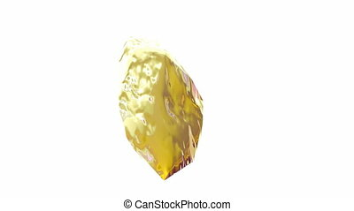 Gold Nugget - Rotating gold nugget