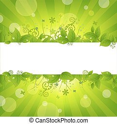 Nature Background - Ecology Nature Background, Vector...