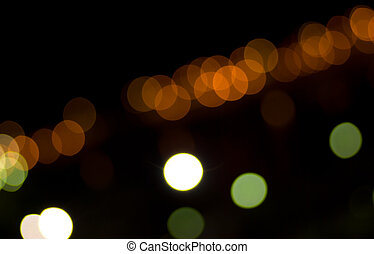 blurred lights - extreme closeup of a blurred lights by...