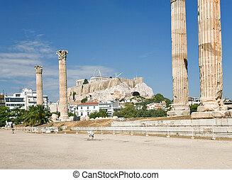 zeus, Ruinas, atenas, templo