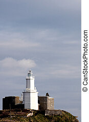 A lighthouse in Swansea West Wales - A lighthouse situated...