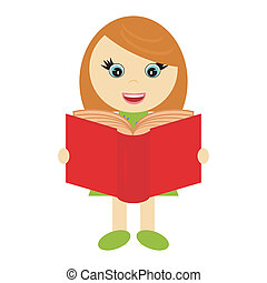 nice little girl with book