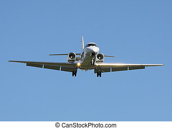 excutive jet  - excutive aircraft coming in to land