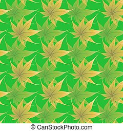 Wallpaper with curling leaves of a plant