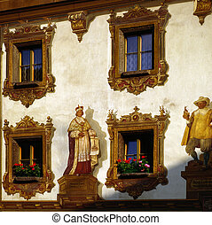 House in Bavaria with wall painting