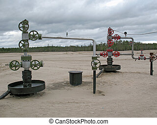 Oil wells in West Siberia.