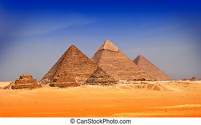 The Pyramids of Giseh, Egypt.