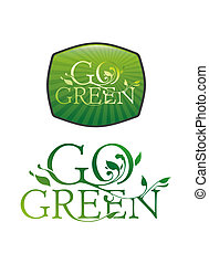 Go green typography - Go Green floral typography and screen...