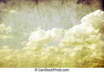 retro background - Vintage retro background cloudy sky...