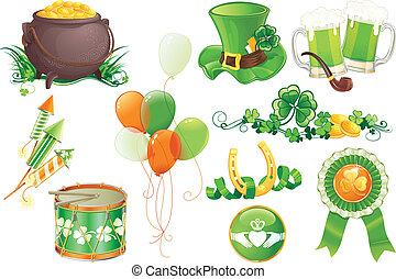StPatricks Day symbols - Set contains symbols of StPatricks...