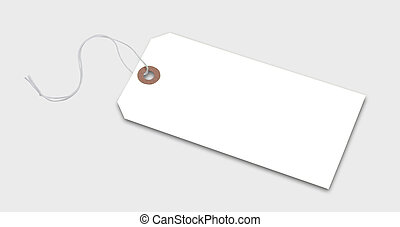 Tag or label, isolated - Price tag or address label in white...