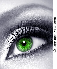 green eye - woman green eye