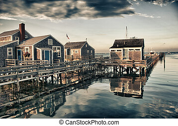 Homes over Water, Nantucket, USA