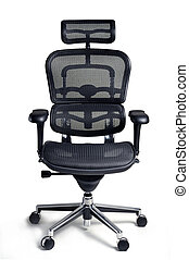 Office chair - Office armchair for boss isolated on white...