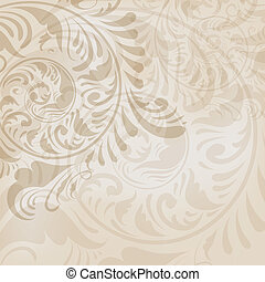 ABSTRACT FLORAL BACKGROUND - vector abstract floral...