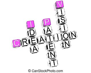 Creation Crossword - 3D Creation Crossword on white...