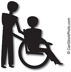 wheel chair - woman in wheelchair