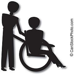 wheel chair - woman in wheelchair