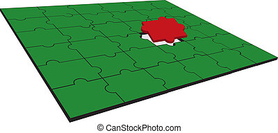 red and green puzzle