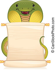 Snake with scroll