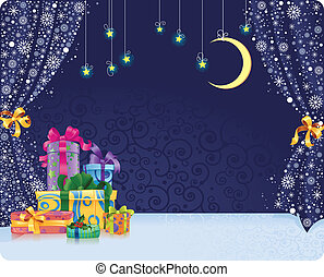 Christmas stagy Background