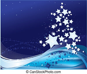 background with Christmas tree - Christmas and New Year...