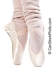 legs in ballet shoes 7 - legs in ballet shoes on a white...