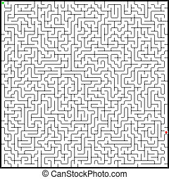 Vector illustration of perfect maze. EPS 8 vector file...