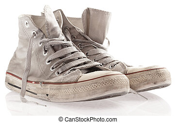 sneakers - dirty sneakers isolated on a white background