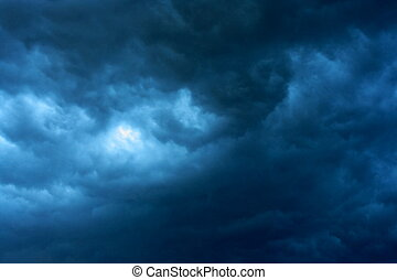 Stormy sky - Dramatic dark stormy clouds, the storm is...