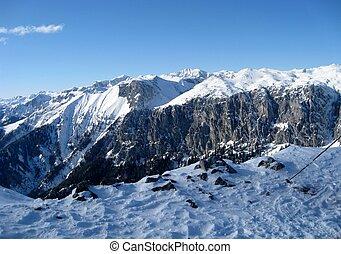 Alpine ski slope - A general view of the ski resort