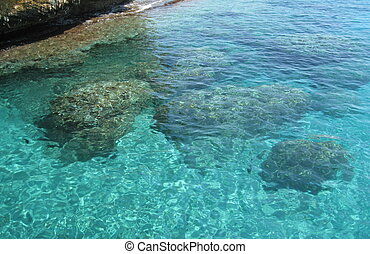 Sardinia - Transparent water, Mediterranean sea, Sardinia,...