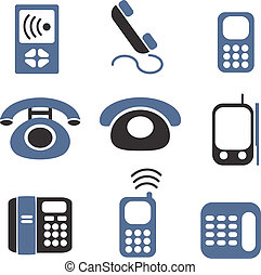 phones signs - phones web top signs, vector