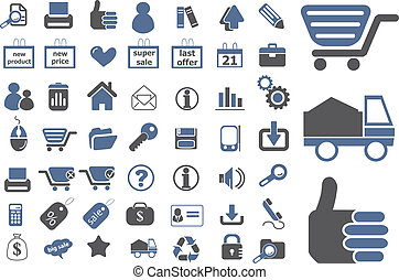 ecommerce signs set 2 - ecommerce web top signs, vector