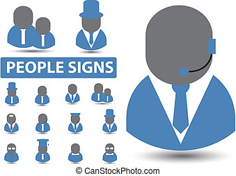 professions signs, vector
