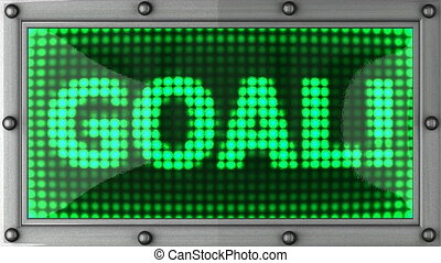 goal announcement on the LED display