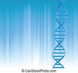 DNA strand on blue background with copyspace