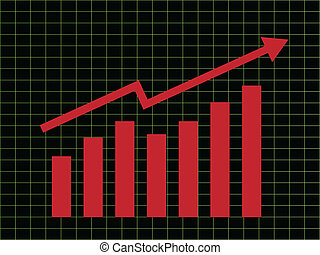 Business Chart - Business chart with arrow going up
