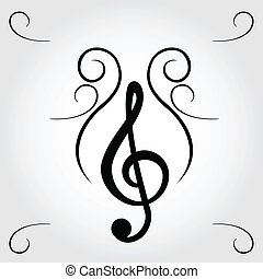 Treble clef for sheet music