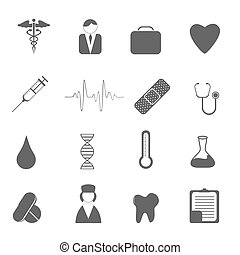 Health care icons - Health care and medical icons