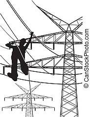 electrical tower constructions work