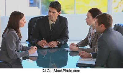 Businessteam during a meeting at work