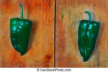 Poblano chili peppers chile Capsicum annuum
