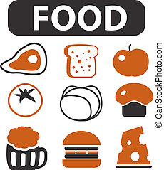 food signs - food cute top signs, vector